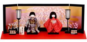 工房朋の桜屏風の雛人形