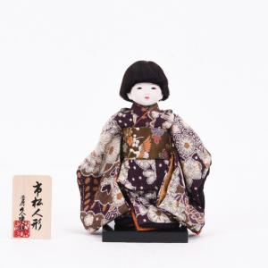 工房朋の古布風の衣装を着た男の子の市松人形